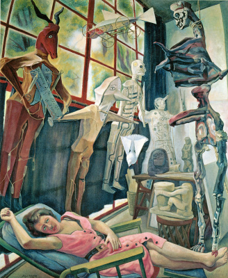 Diego Maria Rivera. The artist's Studio
