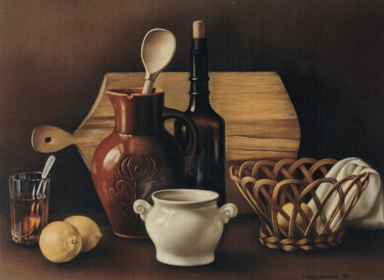 Galina Petrovna Khmelevskaya. Still life with a wooden spoon