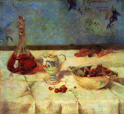 Paul Gauguin. Still life with cherries