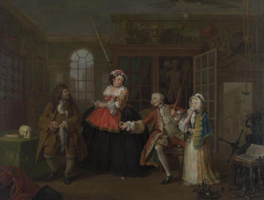 William Hogarth. A fashionable marriage. Part 3. The visit to the quack