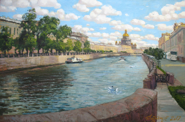 Александр Николаевич Безродных. С моста Поцелуев