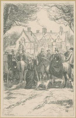 John Everett Millais. Meeting of landowners. Illustration for the works of Anthony Trollope