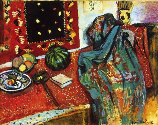 Анри Матисс. Натюрморт с красным ковриком