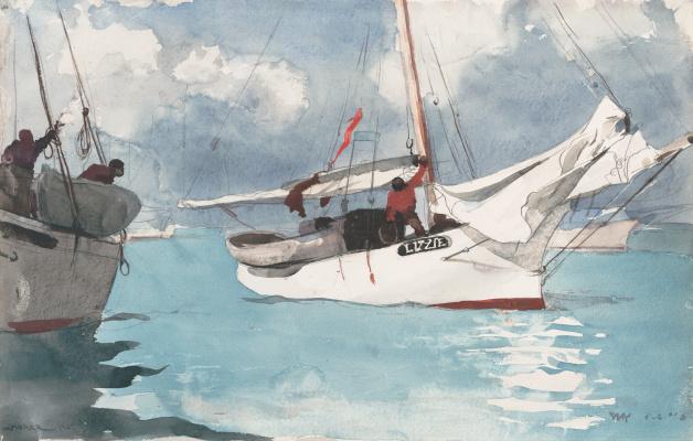Winslow Homer. Fishing boats. Key West, FL