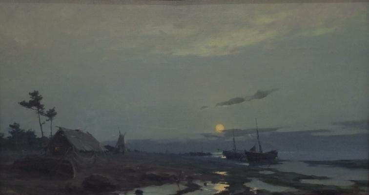 Евгений Николаевич Скитальцев. Восход луны