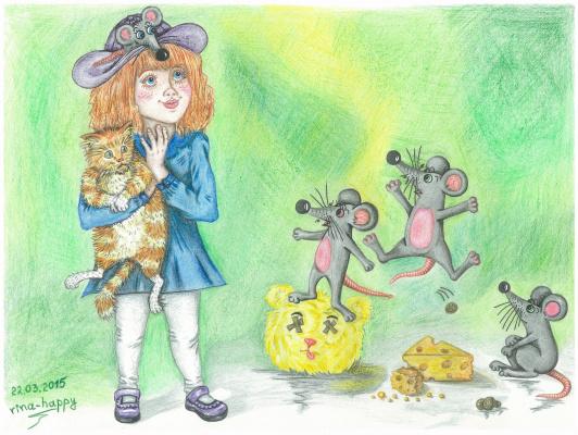 "Ирина Владимировна Хазэ. Fantasy painting ""Mouses"""