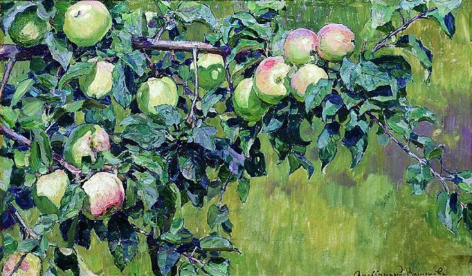 Apollinarius Mikhailovich Vasnetsov. Branch of Apple