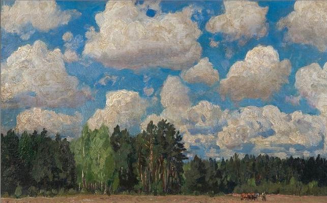 Stanislav Yulianovich Zhukovsky. The edge of the forest