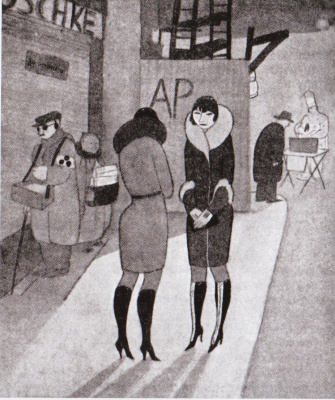 Jeanne Mammen. Prostitutes in boots