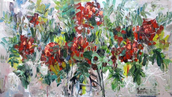 Ilya Pavlovich Spichenkov. Mountain ash bouquet