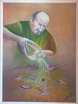 Alik Khazgaleev. I poured myself to the bottom (self-portrait)