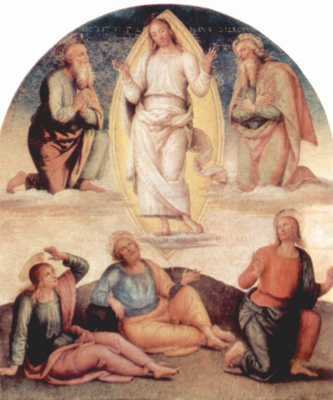 Pietro Perugino. The frescoes of the halls of the techniques of the management Board of the exchange in Perugia. The Transfiguration Of Christ