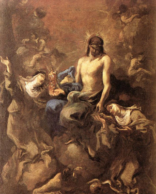 Алессандро Маньяско. Христос, обожаемый двумя монахинями