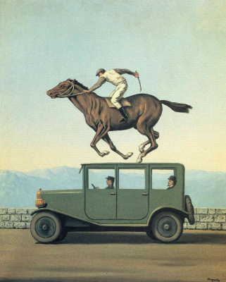 René Magritte. Wrath of the gods