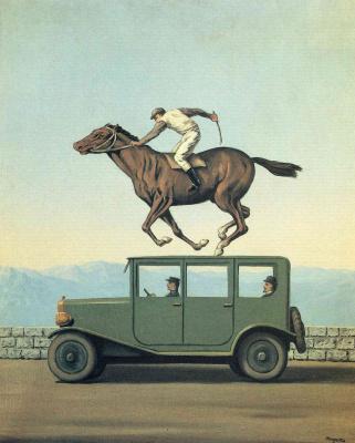 René Magritte. Wrath of the gods