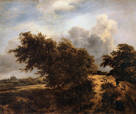 Jakob van Isaacs Ruisdael. Road in the dunes near haarlem