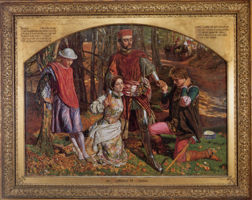 William Holman Hunt. Two gentlemen of Verona. Valentine rescues Sylvia from Proteus (in preparation)