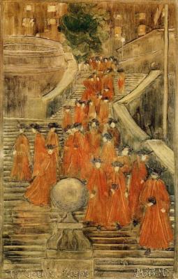 Maurice Braziel Prendergast. The Spanish steps