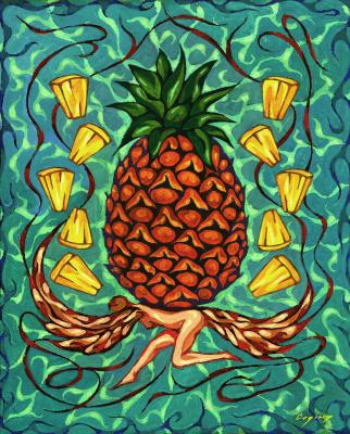 Nikolai Nikolayevich Sednin. Angel with pineapple