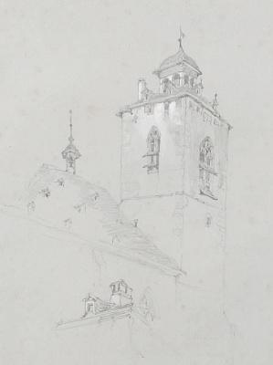 Джон Рёскин. Башня церкви, Швейцария