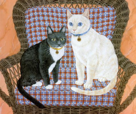 Мими Ванг Олсен. Черный и белый коты