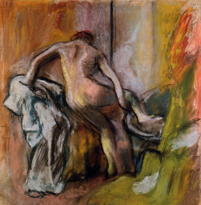 Edgar Degas. Woman emerging from the bathroom