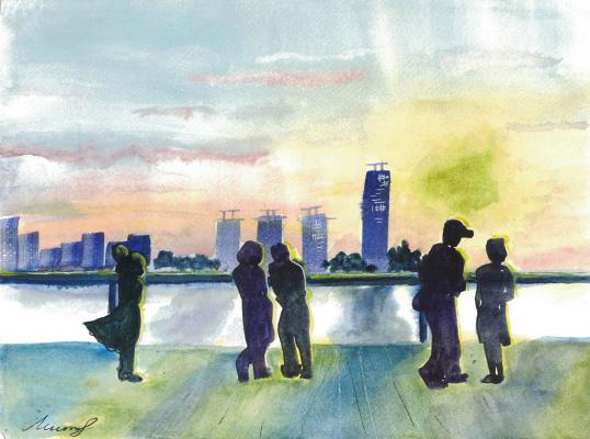 Екатерина Викторовна Митрофанова. Big city sunset