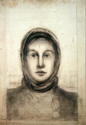 Nikolai Mikhailovich Suetin. Sketch. The winner