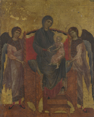 Cheney di Pepo Cimabue. Mother of God with baby and two angels