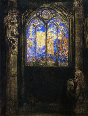 Odilon Redon. Temple stained glass window