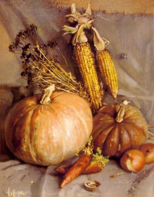 Sergey Anatolevich Bondaryuk. Sketch with pumpkins