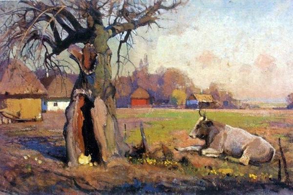 Ivan Grigorievich Myasoedov. Rural landscape in Poltava