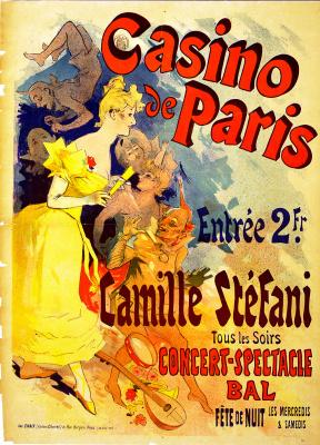 Jules Chere. Casino Paris. Paris