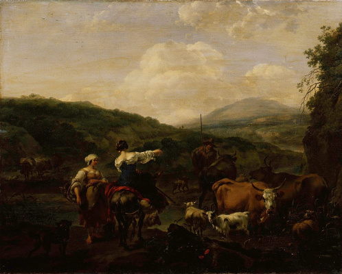 Nicholas Peters Berchem. A herd of water