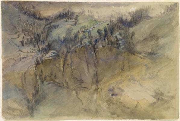 Джон Рёскин. Альпийский пейзаж