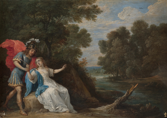 David Teniers the Younger. Reconciliation of Rinaldo and Armida