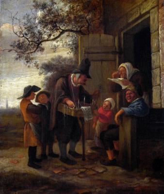 Jan Steen. The seller points