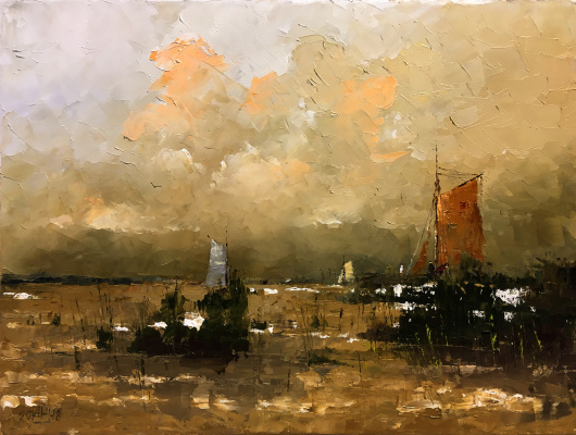 Alexander Cepel. At the Akhtarskiy Liman