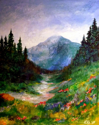 Valentina Khudyakova. Spring in the mountains