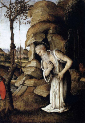 Filippino Lippi. The penitent St. Jerome