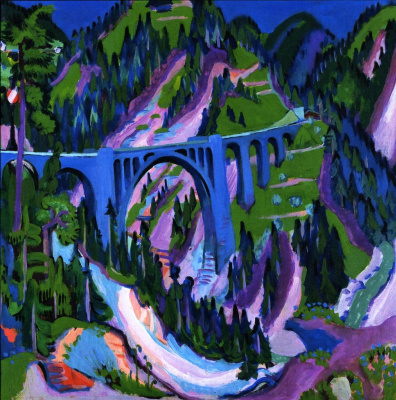 Ernst Ludwig Kirchner. Bridge at Wiesen
