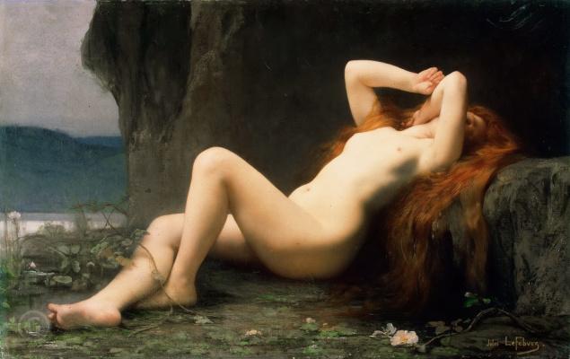 Jules Joseph Lefebvre. Lying magdalene in the grotto