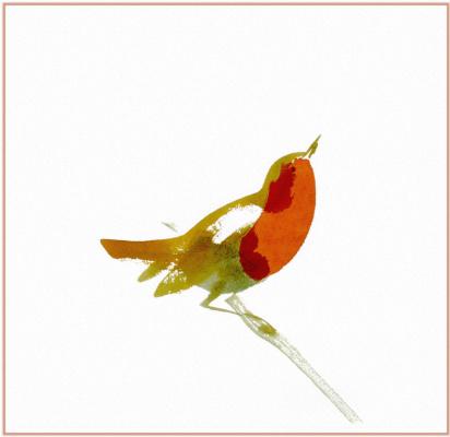 Аврора де ла Моринери. Птица на ветке