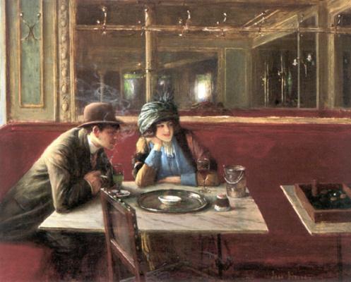 Жан Беро. В кафе