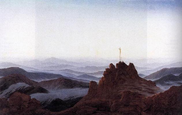 Caspar David Friedrich. Morning in the Sudeten mountains