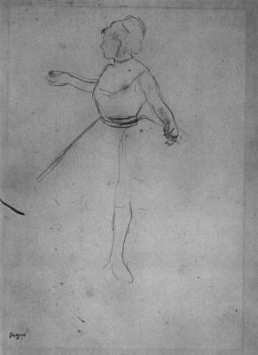 Edgar Degas. Ballerina with extended arms