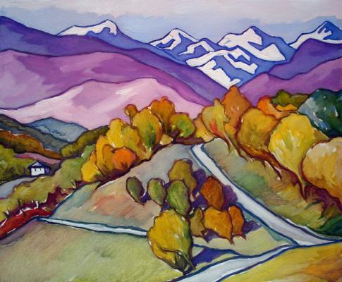 Xenia Shilnikova. Snow-capped peaks. Abkhazia
