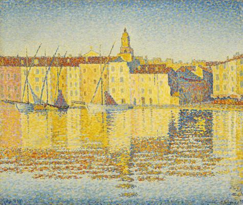 Paul Signac. Port constructions, Saint-Tropez