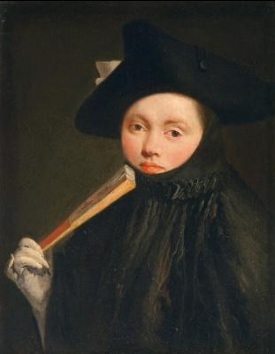 Giovanni Battista Tiepolo. Portrait of a young woman in a triangular hat