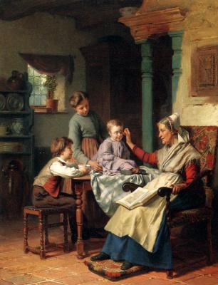 Теодор Жерар. Пожилая женщина и дети